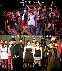 Top: The usual finale of 1814! Bottom: The finale on September 14, 2014.